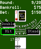 Blackjack mobile phone game